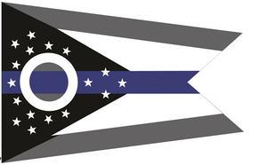 Ohio Thin Blue Line Flag - Large